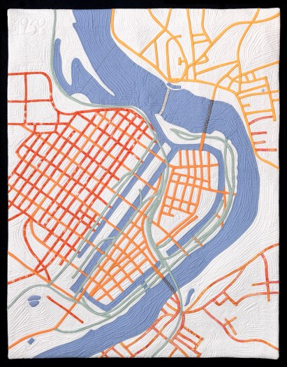 Timna Tarr Map Quilt of Holyoke, MA