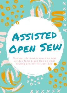 Assisted Open Sew @ Cate's Sew Modern