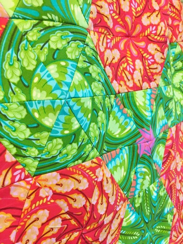 One Block Wonder made of Tula Pink Zuma fabric