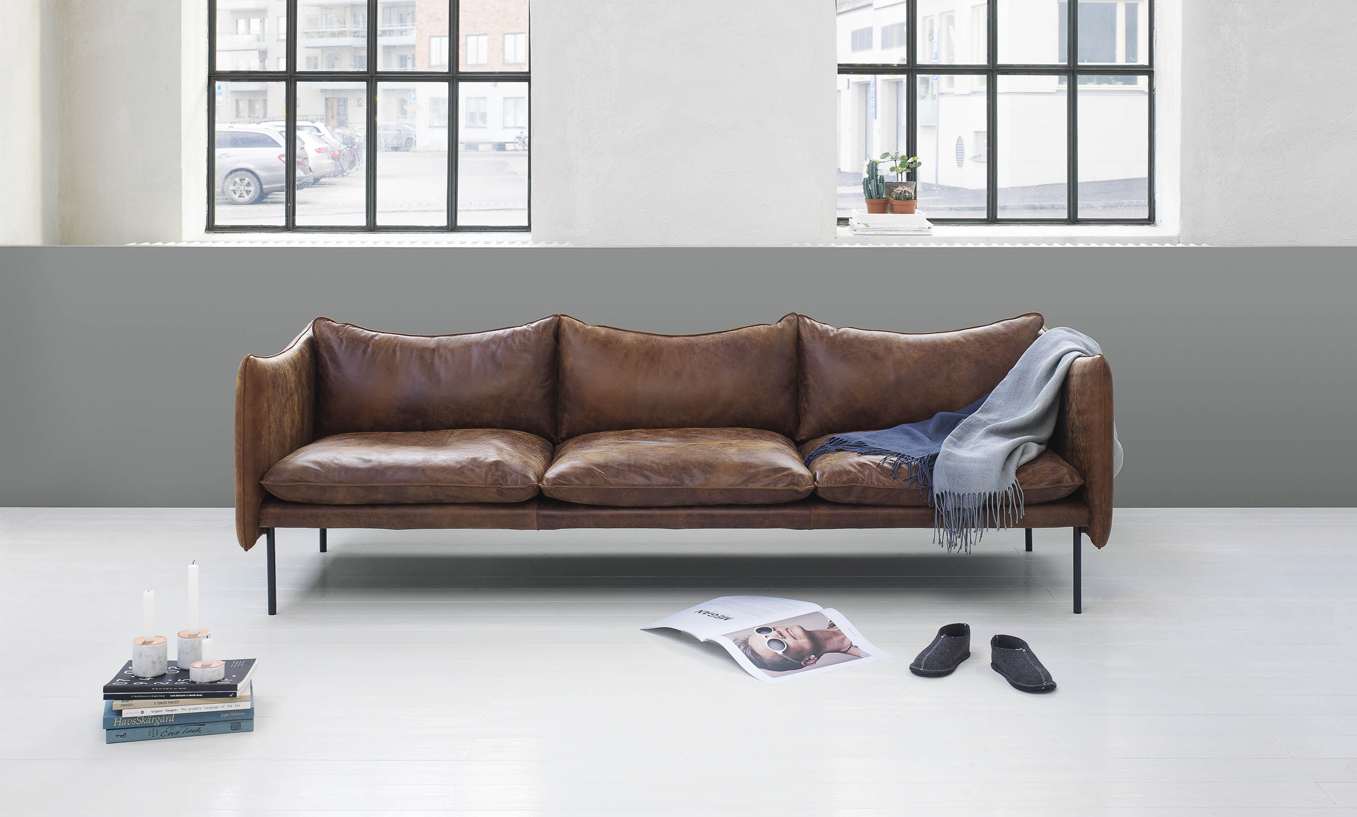Beautiful leather sofas by Swedish brand Fogia - cate st hill