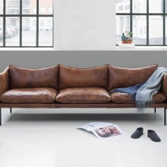Sofaer Coop Santa Monica Sofa Plush Beautiful Leather Sofas By Swedish Brand Fogia Cate St Hill