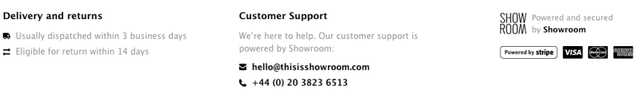powered by showroom