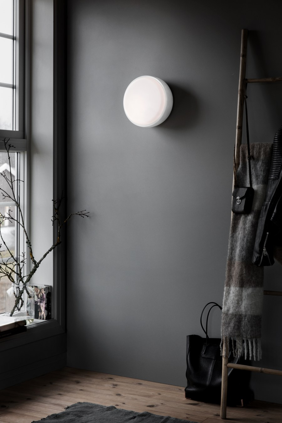 Northern Lighting new product launches 2017 - minimal interiors - dark walls - scandinavian design