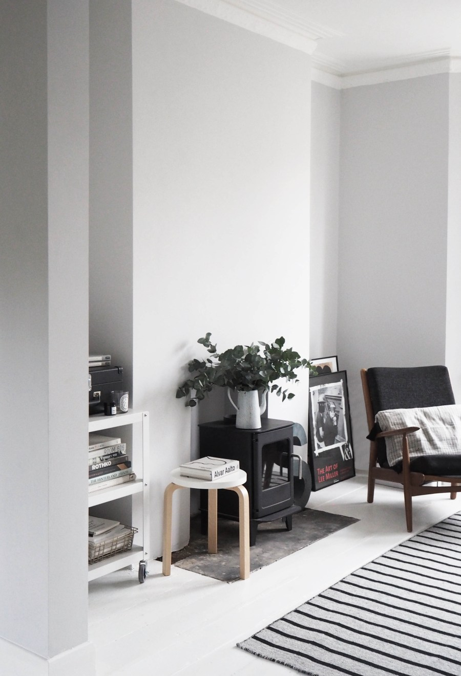 My scandi style living room makeover painted white - White walls living room ...