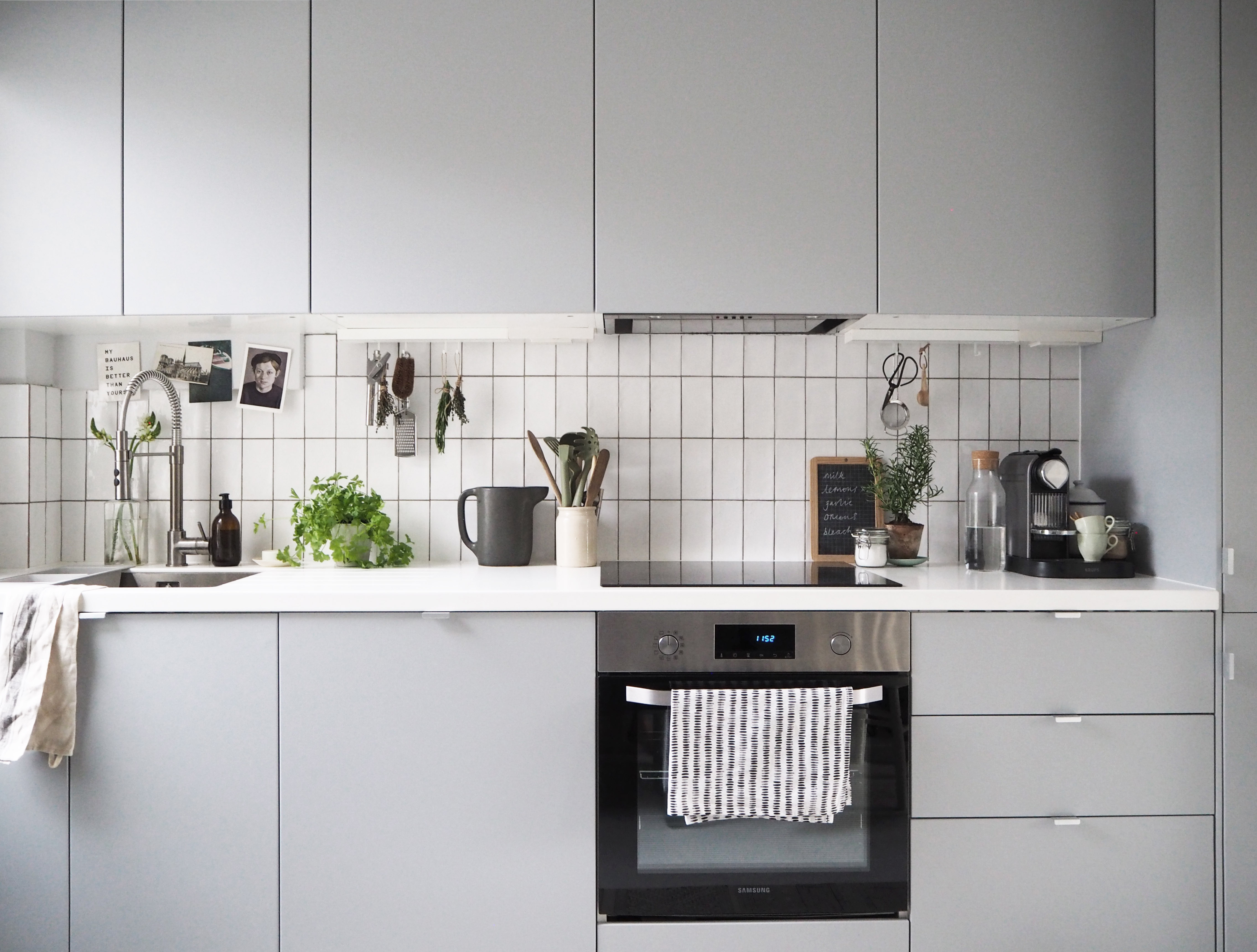 ... Cate St Hill IKEA Kitchen Makeover Before And After   The Wonderful  Everyday   Grey Kitchen
