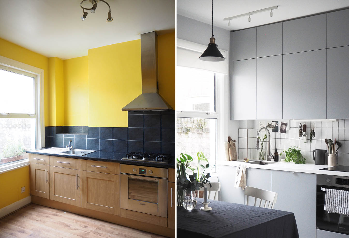 Cate St Hill IKEA Kitchen Makeover Before And After   The Wonderful  Everyday   Grey Kitchen