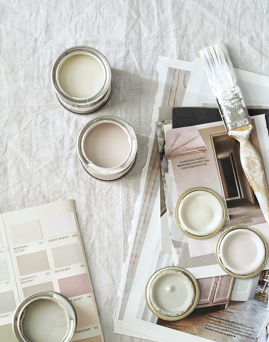 catesthill soft dusty pink bedroom makeover inspiration - Farrow & Ball Peignoir
