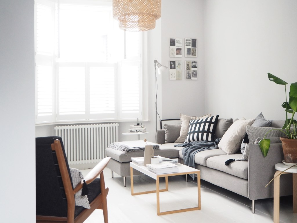 tag scandinavian living room our new vento grey corner sofa from madecom - Scandinavian Living Room