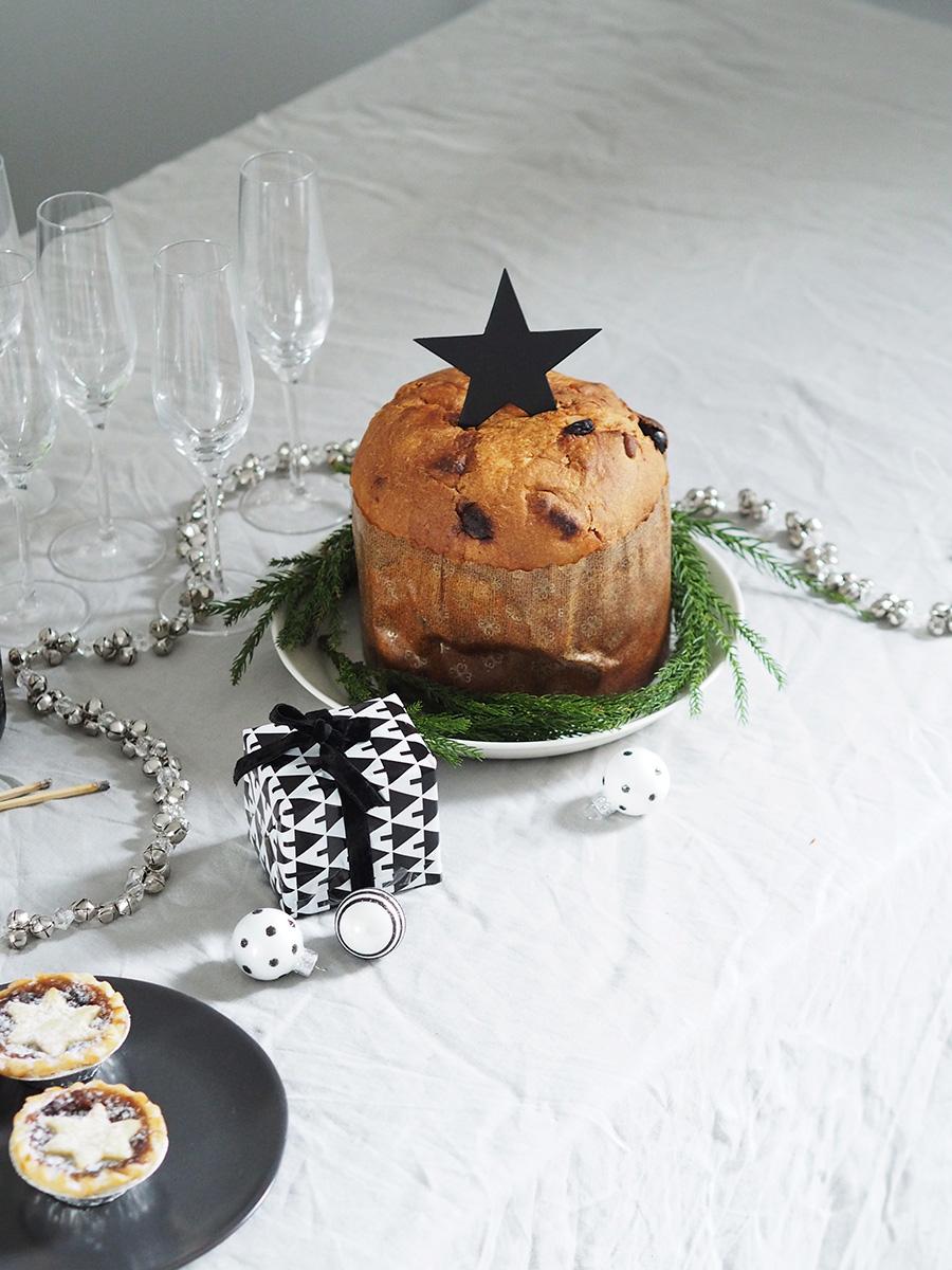 Simple festive entertaining. Scandi Christmas. A minimal, monochrome Christmas on a budget with Homesense