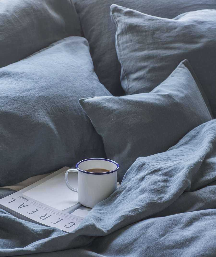 7 best places to buy pure linen bedding. Parisian Blue linen bedding, from £30 for a pillowcase, The Linen Works
