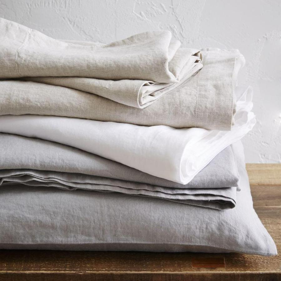 7 best places to buy pure linen bedding - Belgian Flax bed linen, £59 for a double fitted sheet, West Elm