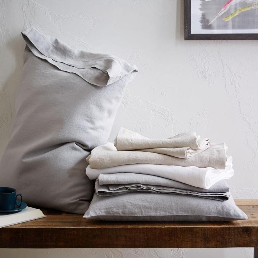 7 best places to buy pure linen bedding - Belgian Flax bed linen, £34 for set of two pillowcases, West Elm