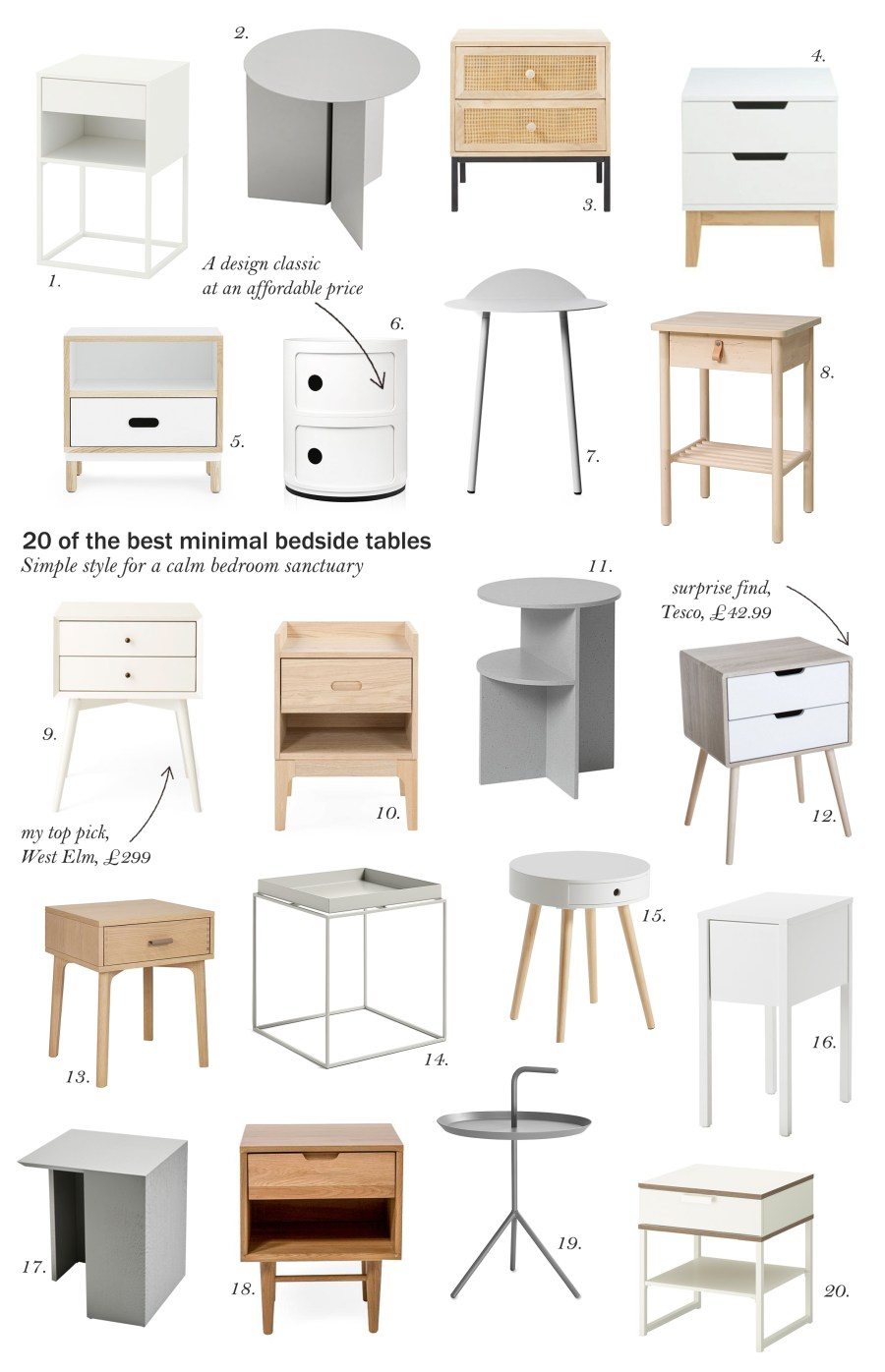 20 Of The Best Minimal Scandi Style Bedside Tables Cate