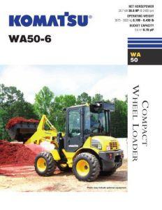 Komatsu WA50-6 Excavator Cat Wheel Service Repair Workshop Manual