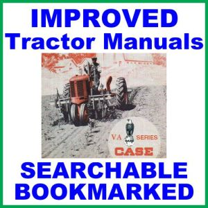Case Va Vac Vae Vah Vao Tractor & Engine Factory Service Repair Manual