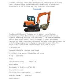 doosan dx55 crawler excavator workshop service repair manual jpg [ 1056 x 1495 Pixel ]