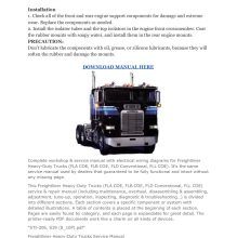 Freightliner Heavy-Duty Trucks Factory Service Repair Manual