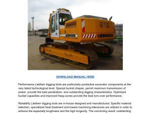 Liebherr R912 Litronic Excavator Operators Operating Manual