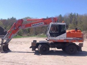 Daewoo Doosan Solar 170w-Ⅲ Excavator Service Parts Catalogue Manual
