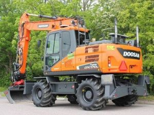 Daewoo Doosan Dx170w Wheeled Excavator Service Parts Manual