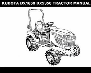 KUBOTA BX1850 BX2350 TRACTOR LA203 LA243 Loader Rck Mower