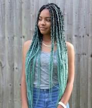 catface hair mint green ombre jumbo