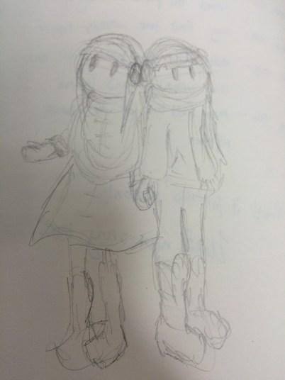 Original Winter Outfit Sketch