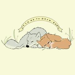 fox_wolf_cuddles
