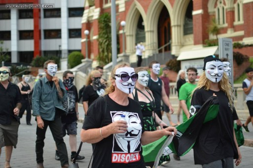 DSC_0344 million mask march brisbane Million Mask March Brisbane DSC 0344