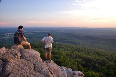 The very top on the west side is a great spot to watch the sunset.