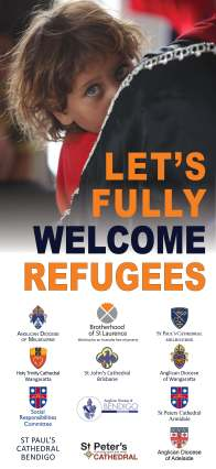 refugee banner with other cathedral logos low res