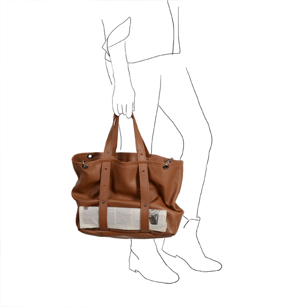 freesize-A4 bag leather Catherine Loiret