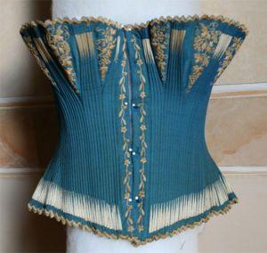 Corset bleu 1850