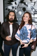 Kadir Ates, Yana Lykhman== PERRIER X L'ATLAS Collaboration Launch== Catherine Ahnell Galleryyy, New York== October 28, 2015== ©Patrick McMullan== Photo-Jimi Celeste/PMC==