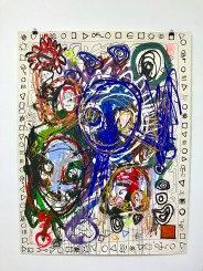 Chaos 87, Acryl and Crayon on Paper