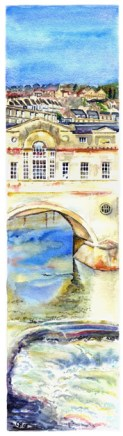 Pulteney Bridge, slice - sold, available as a limited edition print