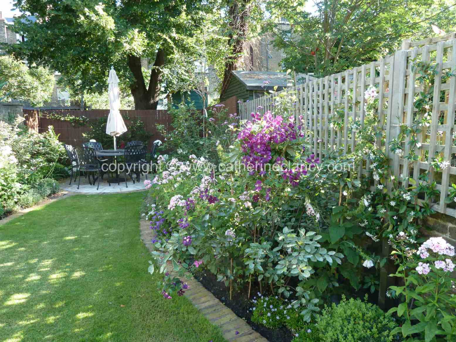 Victorian north facing garden garden design london for Victorian garden designs