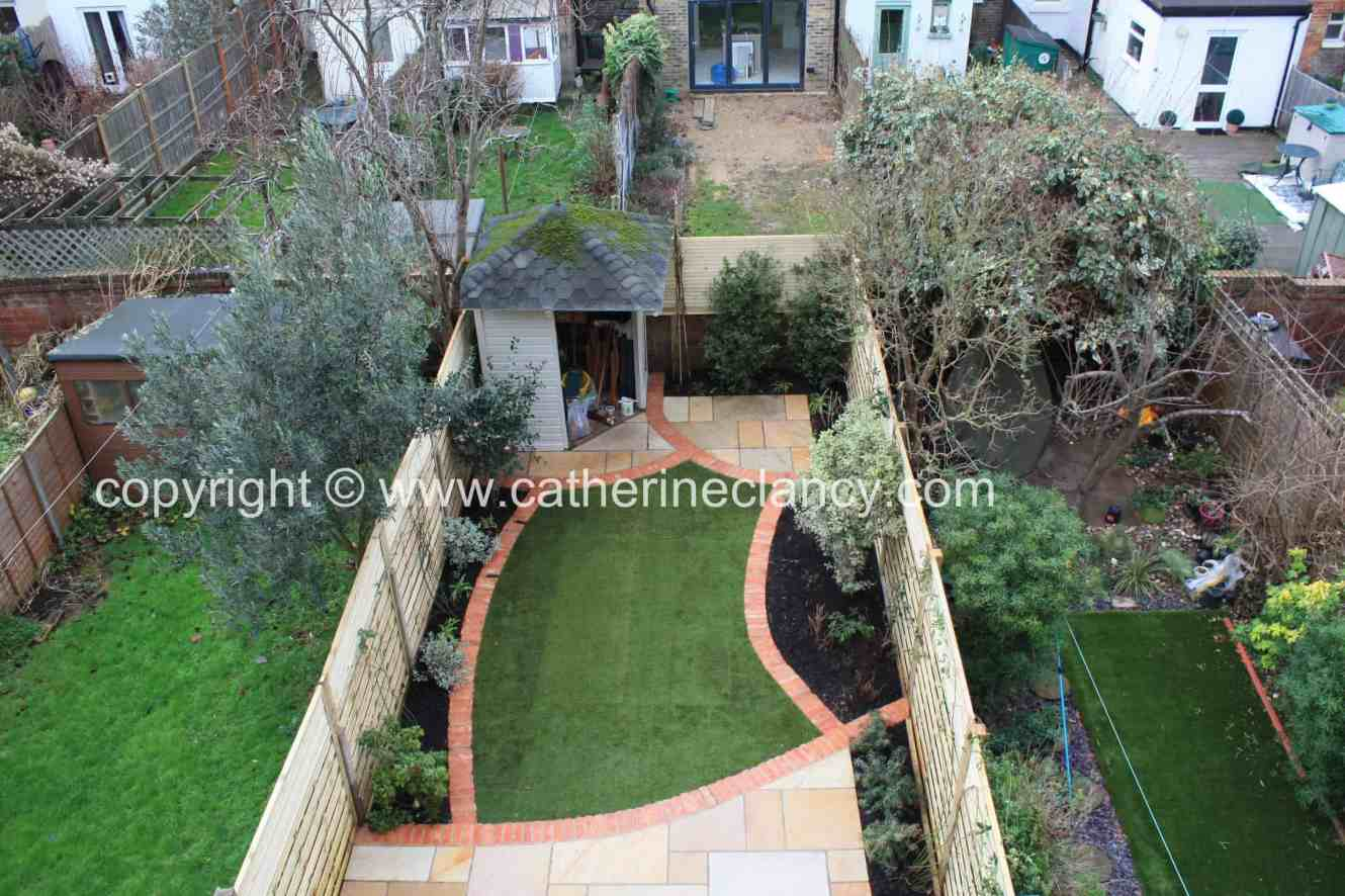 brockley back garden view from upstairs