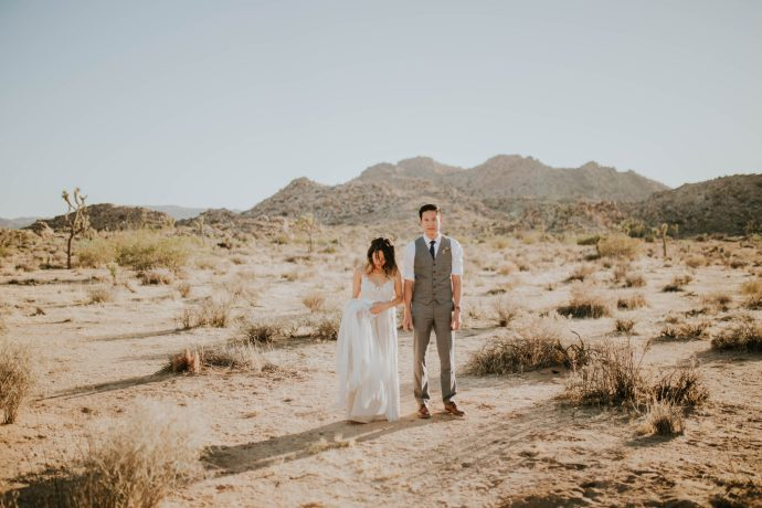 Mandy & Joey Joshua Tree Elopement California Wedding Photographer-104