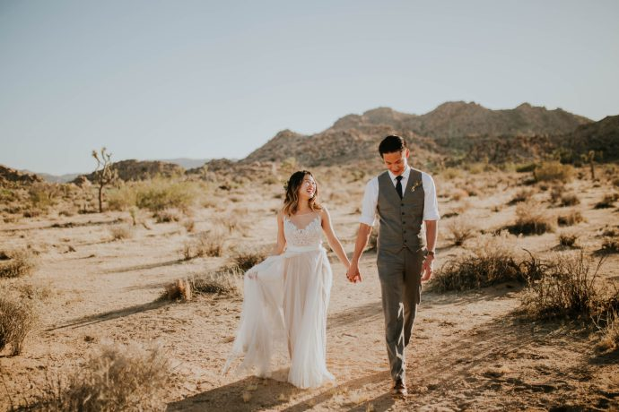 Mandy & Joey Joshua Tree Elopement California Wedding Photographer-108
