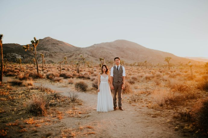 Mandy & Joey Joshua Tree Elopement California Wedding Photographer-259