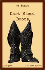 Footwear-Dark Steel Boots