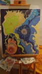 Sous la mer - Abstrait - Huile
