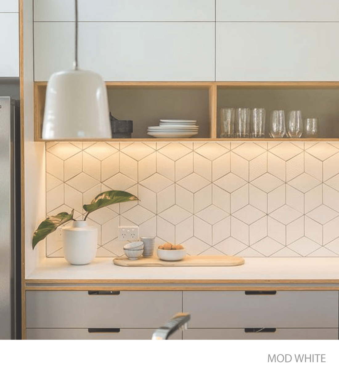 Interior Design Kitchen - Modern White Tile