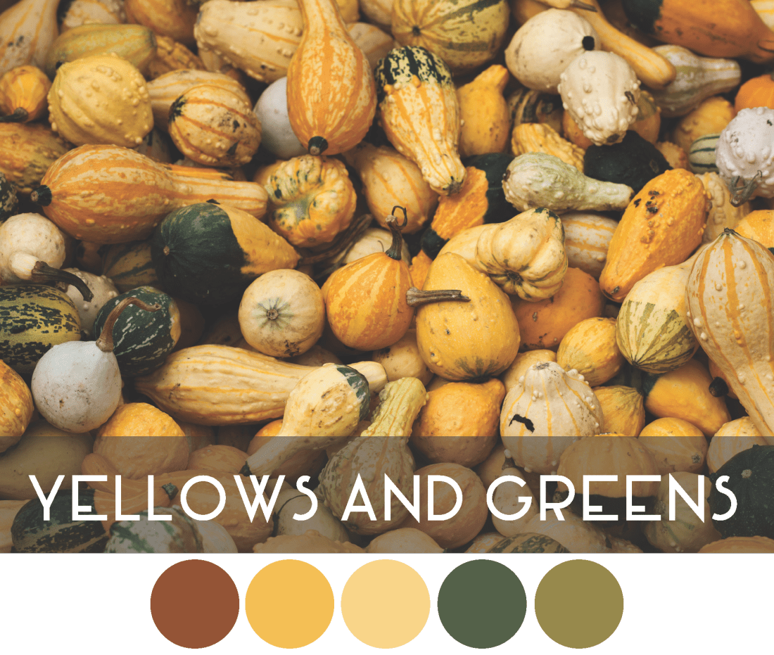 Autumn Color Palette - Yellow and Green