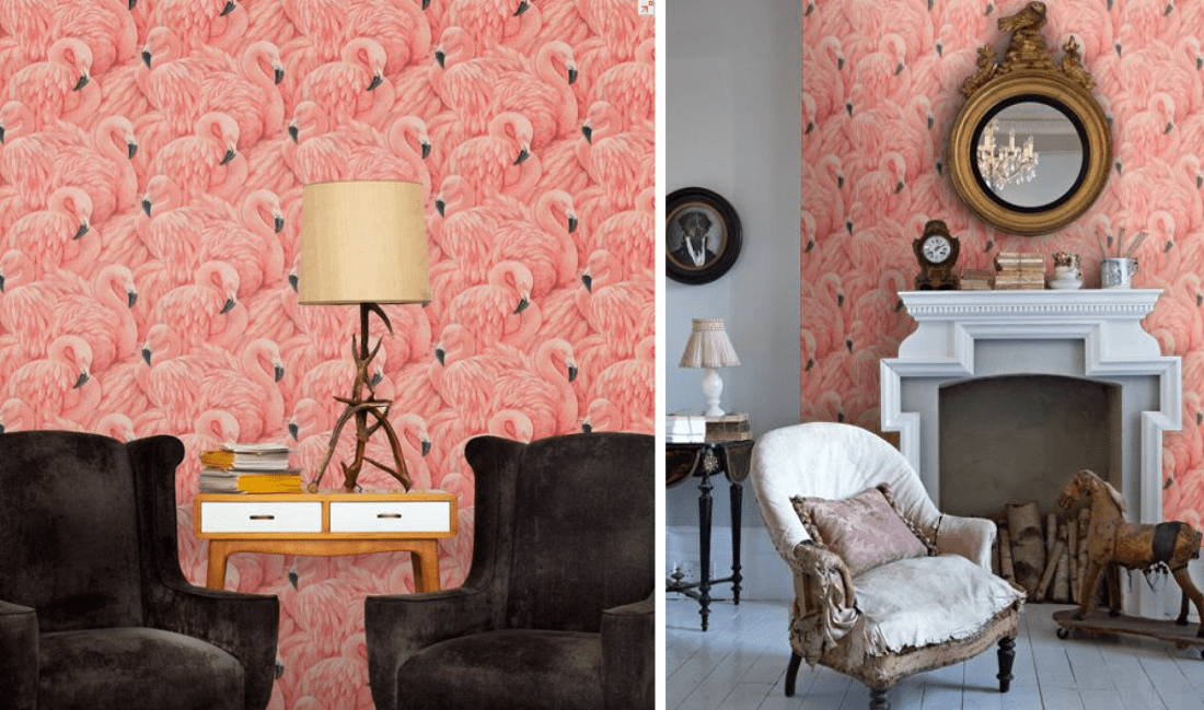Wallpaper Ideas Pink Flamingos