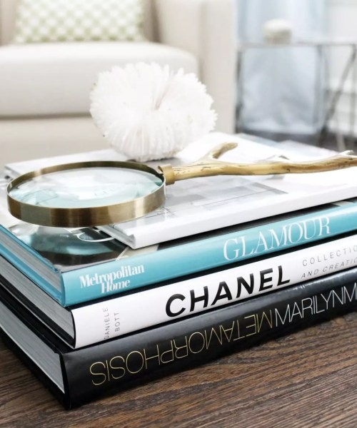 Teal Accent Coffee Table