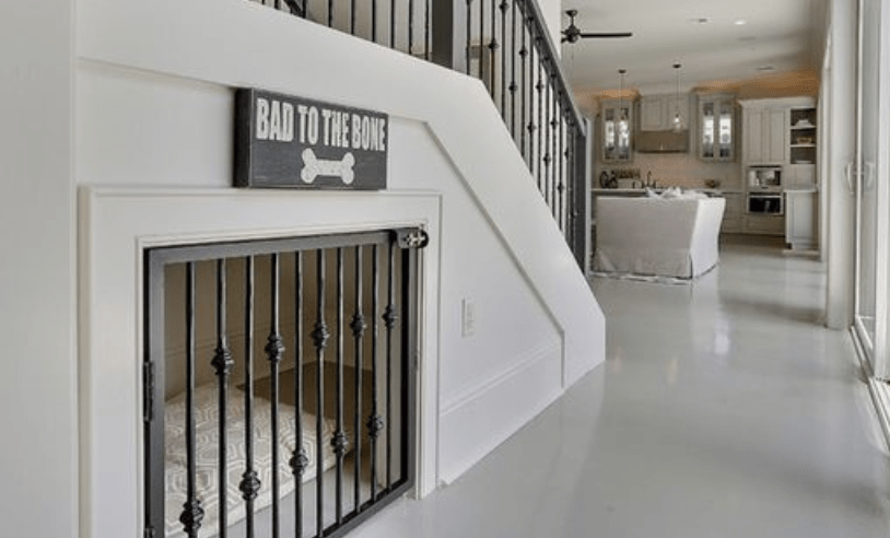Home kennel under stairs