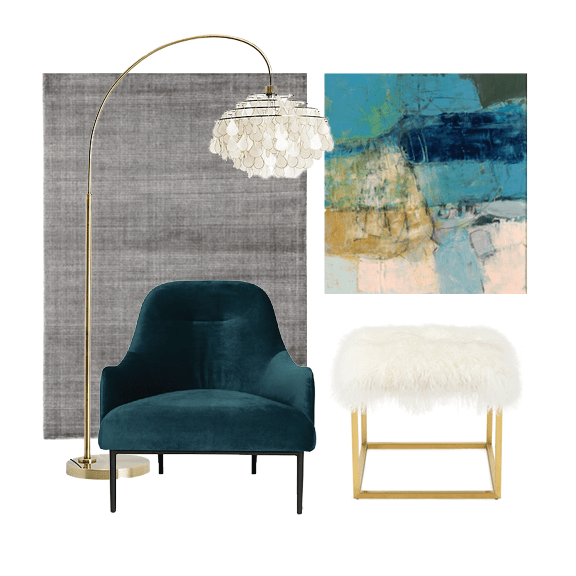 Teal and Grey Furniture Inspiration