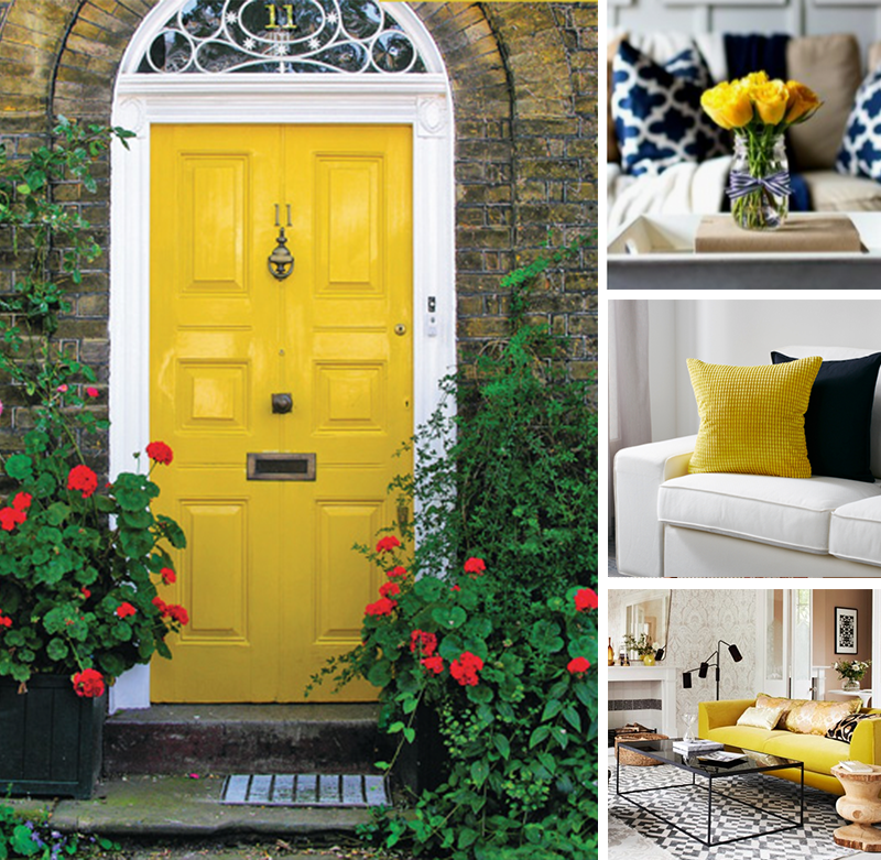 Ideas for a Yellow Colored Front Door
